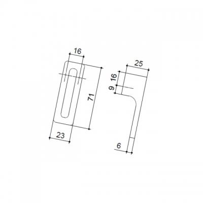 Ручка-кнопка 16мм, отделка хром глянец FIBIA-K