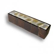 145A1 Ручка скоба, натуральный перламутр в обрамлении древесины кокосового дерева 64 мм