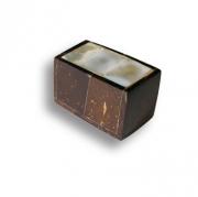 145A2 Ручка кнопка, натуральный перламутр в обрамлении древесины кокосового дерева