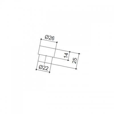 Ручка-кнопка RADIO, отделка венге + сталь нержавеющая 4370-87-01-200