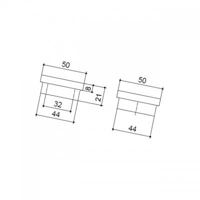 Ручка-кнопка PIXEL+, отделка венге + алюминий 4374-87-01-200