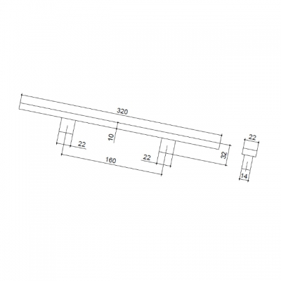 Ручка-скоба JAPAN 160мм, отделка венге + алюминий 6731-87-01-200
