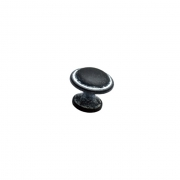 Ручка-кнопка, отделка черненое железо с белой патиной 10.734.C0014