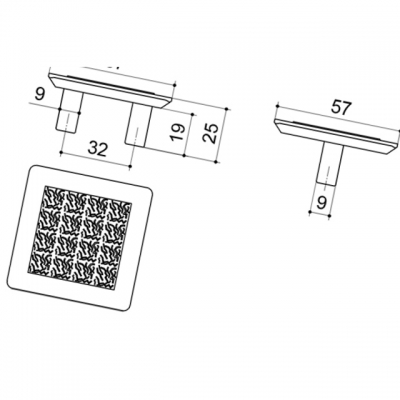 Ручка-скоба 32мм, отделка хром матовый 8.1046.0032.45