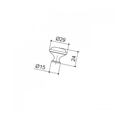 """Ручка-кнопка, отделка бронза античная """"Флоренция"""" + керамика """"Бордо"""" P08.Y21.22.MD1G"""