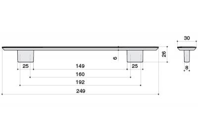 Ручка-скоба 192-160мм, отделка каньон 8.1043.192160.0214