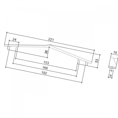Ручка-скоба 192-160мм, отделка хром матовый 8.1135.192160.42