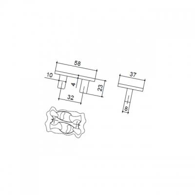 Ручка-скоба 32мм, отделка хром глянец 9.1356.0032.40