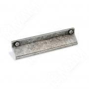 1490.128.6D Профиль-ручка 128мм серебро состаренное