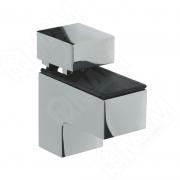 SU15AZCR КВАДРО МИНИ Менсолодержатель 24х51 мм для деревянных и стеклянных полок 4 - 20 мм, хром