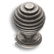 15.030.16 Ручка кнопка, старое серебро
