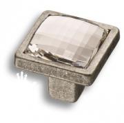 15.320.00.SWA.16 Ручка кнопка с кристаллом Swarovski, старое серебро