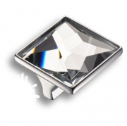 15.390.32.SWA.07 Ручка кнопка с кристаллом Swarovski, глянцевый хром 32 мм