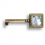 15.511.42.SWA.12 Ключ мебельный с кристаллом Swarovski, античная бронза