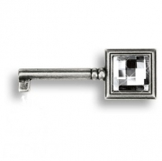 15.511.42.SWA.16 Ключ с кристаллом Swarovski, старое серебро