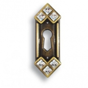 15.608.10.SWA.04 Ключевина декоративная со Swarovski, старая бронза