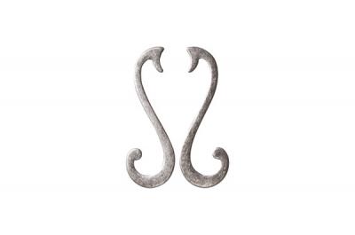 MC 15065Z096SB.25 Ручка-скоба 96мм (левая), отделка серебро старое