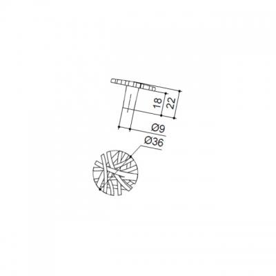 """Ручка-кнопка, отделка бронза античная """"Флоренция"""" WPO.647Y.036.M00D1"""