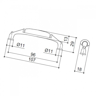 Ручка-скоба 96мм, отделка серебро чернёное c лазуритом + керамика M19X.01.45.MC3G