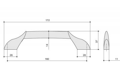 15211Z16000.32 Ручка-скоба 160мм, отделка никель глянец