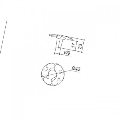 Ручка-кнопка, отделка золото глянец WPO.649Y.042.M00GP