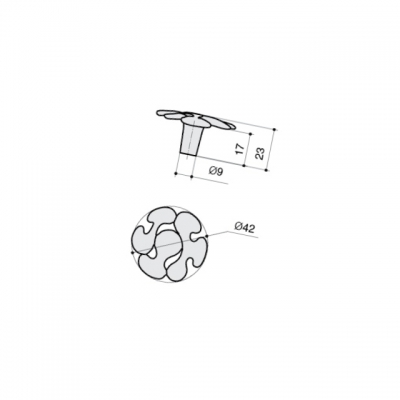Ручка-кнопка, отделка хром глянец WPO.649Y.042.M0002