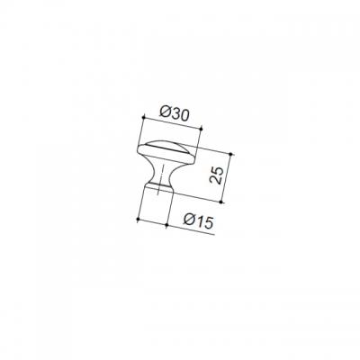 """Ручка-кнопка, отделка бронза античная """"Флоренция"""" WPO.2025Y.30.M00D1"""