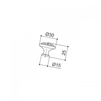 """Ручка-кнопка, отделка бронза античная """"Флоренция"""" WPO.2028Y.30.M00D1"""
