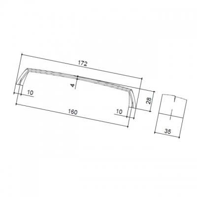 Ручка-скоба 160мм, отделка фиолетовая 217.103-6406