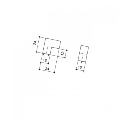 Ручка-кнопка, отделка сталь шлифованная F515-CM
