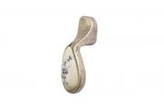 P16.01.145.15MM Ручка-серьга, отделка серебро старое + керамика