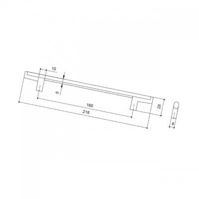 Ручка-скоба 160мм, отделка бронза натуральная 8.1121.0160.2929