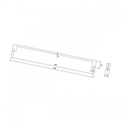 Ручка-скоба 320мм, отделка никель матовый 8.1136.0320.30