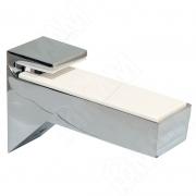 162200 10 KB-2 KALABRONE Менсолодержатель для деревянных и стеклянных полок 8 - 30 мм, хром (2 шт.)