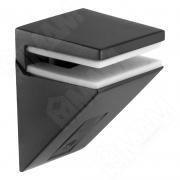 162200 80 EC-1 KALABRONE MINI Менсолодержатель для стеклянных полок 5 - 10 мм, черный матовый