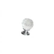 Ручка-кнопка d.26мм, отделка хром глянец + стекло 9993/400