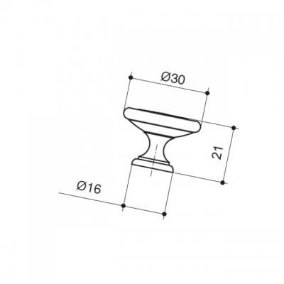 Ручка-кнопка, отделка серебро старое 24177Z03000.25