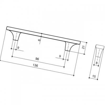 """Ручка-скоба 96мм, отделка бронза """"Валенсия"""" + бежевый 15200Z0960N.407"""