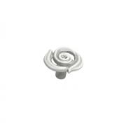 Ручка-кнопка, отделка серебро винтаж + горный хрусталь WPO.724Y.035.MKRT4