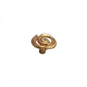 """Ручка-кнопка, отделка золото матовое """"Милан"""" + горный хрусталь WPO.724Y.035.MKRR8"""