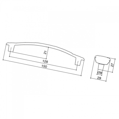 Ручка-скоба 128мм, отделка золото винтаж + горный хрусталь WMN.724X.128.MTZT5