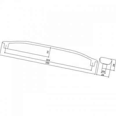 Ручка-скоба 224мм, отделка золото винтаж + горный хрусталь WMN.724X.224.MTZT5