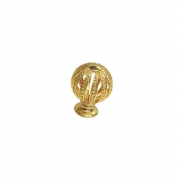 Ручка-кнопка, отделка золото глянец WPO.027Y.028.M00GP