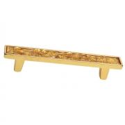 Ручка-скоба 96мм, отделка золото люкс 060161WGP.059619