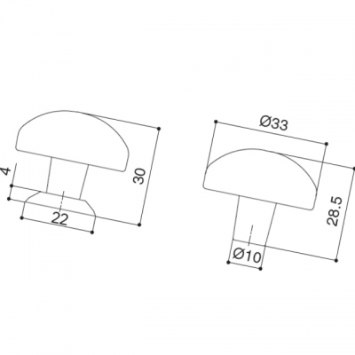 Ручка-кнопка, отделка железо KB-I-3379/3380-34-I