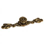Ручка-кнопка с накладкой, отделка бронза античная французская 10.830.0128.25