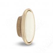 WPO.18.01.00.000.D1 Ручка-кнопка бронза состаренная/керамика молочная