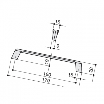Ручка-скоба 160мм, отделка титан 8.1134.0160.0505