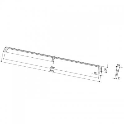 Ручка-скоба 480мм, отделка титан 8.1134.0480.0505