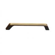 Ручка-скоба 160мм, отделка бронза античная французская 8.1134.0160.25